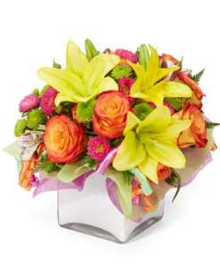 Happy Birthday Present Flower Bouquet