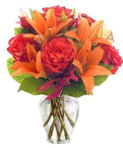 Orange Sorbet Flower Bouquet