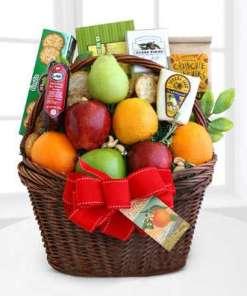 Fruitful Greetings Gourmet Basket 99.99