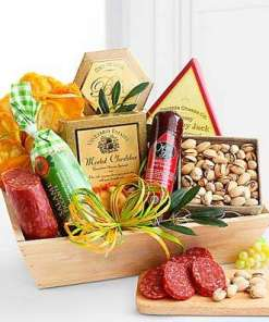 Meat & Cheese Wooden Gift Crate 79.99