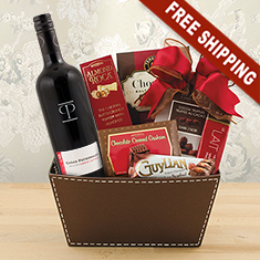 Cabernet Chocolate Gift Basket