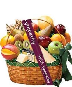 connoisseur fruit gourmet sympathy basket