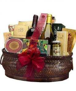 Deluxe Wine Gourmet Gift Basket