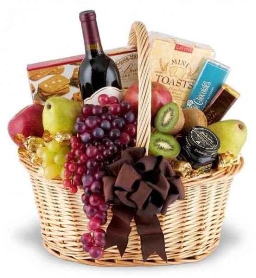 Same Day Wine Basket Delivery