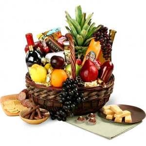 Executive Gourmet Wine Gift Basket