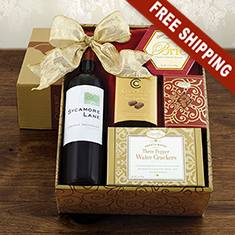 Red Wine Snax Box Gift Home Delivery