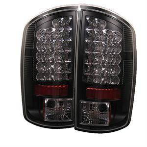 Spyder Black LED Tail Lights: Dodge Ram 2002  2006 (All
