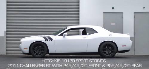 Hotchkis Lowering Springs Dodge Challenger RT SRT8 2011
