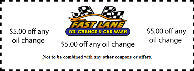 $5.00 Oil Change Coupon from Fast Lane Oil Change and Car Wash in Brewster, NY
