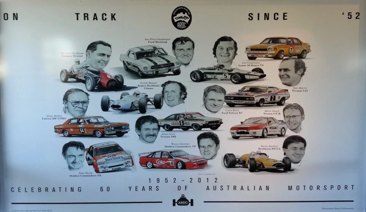 Legends Wall at Sydney Motorsport Park