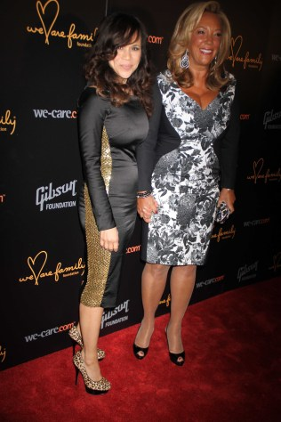 DENISE RICH,ROSIE PEREZ at We Are Family Foundation Honors Sting and Trudie Styler with Humantion award at Manhattan Center Grand Ballroom 4 11 2013 Photo by John Barrett/Globe Photo 2013