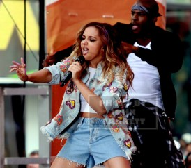 """LITTLE MIX,Leigh -JADE THIRLWALL performs on NBC """"Today'' show at Rockefeller Plaza 8-19-2015 Photos by John Barrett/Globe Photos 2015"""