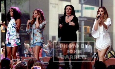 """LITTLE MIX,Leigh -Anne Pinock ,Jade Thirlwall,Perrie Edward,Jesy Nelson performs on NBC """"Today'' show at Rockefeller Plaza 8-19-2015 Photos by John Barrett/Globe Photos 2015"""