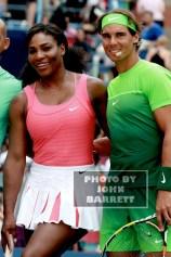 RAFAEL NADAL,SERENA WILLIAMS at Arthur Ashe Day at US Tennis Open 8-29-2015 John Barrett/Globe Photos 2015