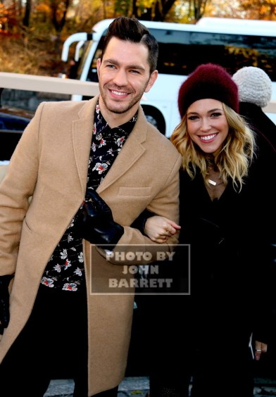 RACHEL PLATTEN,ANDY GRAMMER at the 89th Macy's Thanksgiving Day Parade 11-26-2015 John Barrett/Globe Photos 2015