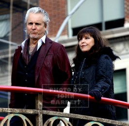 PAT BENATAR,NEIL GIRALDO at the 89th Macy's Thanksgiving Day Parade 11-26-2015 John Barrett/Globe Photos 2015