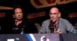 DAVID DUCHOVNY,MITCH PILEGGI attends the ''X-File'' panel at day 4 of NY Comic Con at Javits center 10-11-2015 John Barrett/Globe Photos 2015
