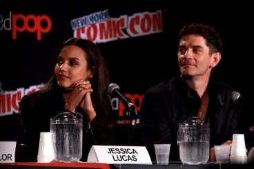 JESSICA LUCAS,JAMES FRAIN attends the'' GOTHAM'' panel at day 4 of NY Comic Con at Javits center 10-11-2015 John Barrett/Globe Photos 2015