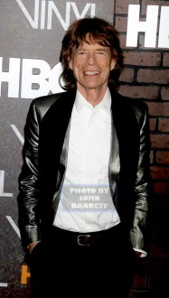 MICK JAGGER at HBO premiere of ''VINYL'' at Ziegfeld Theatre 1-15-2016 John Barrett/Globe Photos 2016