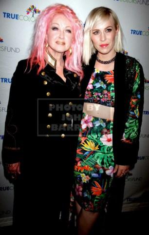 CYNDI LAUPER,NATASHA BEDINGFIELD Cyndi Lauper's True Colors fund host its 5th annual ''Home for the Holidays'' concert at the Beacon Theatre 12-5-2015 John Barrett/Globe 2015