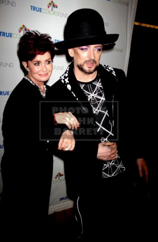 BOY GEORGE,SHARON OSBOURNE Cyndi Lauper's True Colors fund host its 5th annual ''Home for the Holidays'' concert at the Beacon Theatre 12-5-2015 John Barrett/Globe 2015