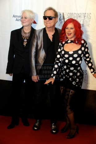 B52'S CINDY WILSON,FRED SCHNEIDER,KATE PIERSON at Songwriters Hall of Fame at NY Marquis Hotel 6-9-2016 John Barrett/Globe Photos 2016