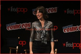 MILLA JOVOVICH at panel for new movie ''Resident Evil:The Final Chapter'' at NY Comic Con at Javits Center 10-7-2016 Photos by John Barrett/Globe Photos 2016