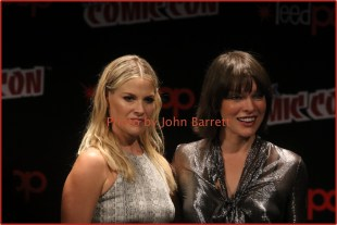 ALI LARTER,MILLA JOVOVICH at panel for new movie ''Resident Evil:The Final Chapter'' at NY Comic Con at Javits Center 10-7-2016 Photos by John Barrett/Globe Photos 2016