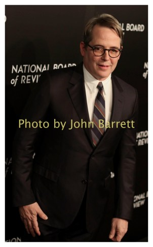 MATTHEW BRODERICK at National Board of Review Gala at Cipriani East 42street 1-4-2017 John Barrett/Globe Photos 2017