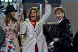 BARRY MANILOW,HODA KOTB,SAVANNAH GUTHRIE performing on NBC ''Today''Show at Rockefeller Plaza 4-20-17 Photo by John Barrett/Globe Photos 2017
