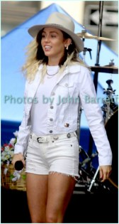 MILEY CYRUS performing on NBC ''Today ''Show at Rockefeller Plaza 5-26-17 John Barrett/Globe Photos 2017