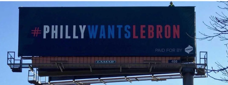 Image result for sixer billboard for lebron
