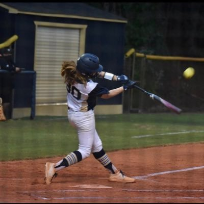 Emily Digby launches another ball for Dacula High School
