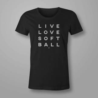 Live Love Softball - Fastpitch Tees Softball Tshirt