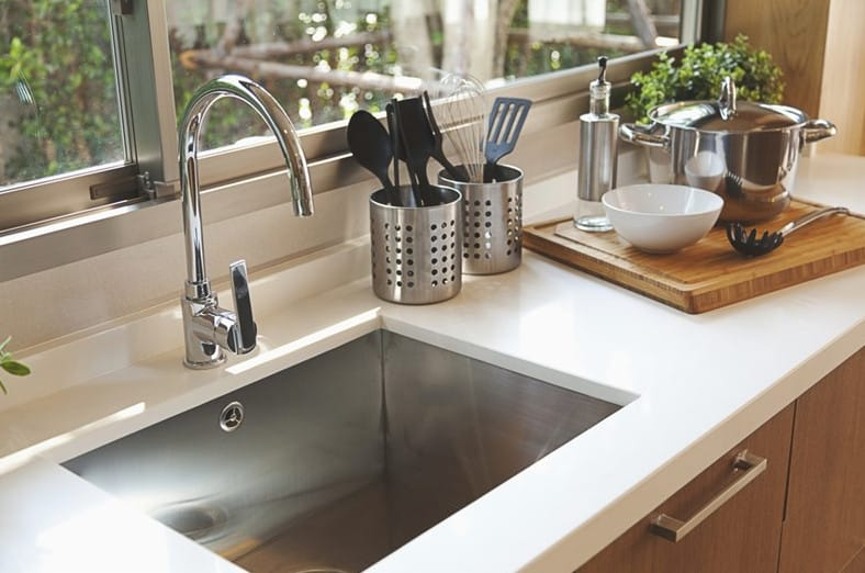 install a brand new sink in your kitchen