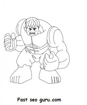 Lego Hulk Coloring Pages Printable