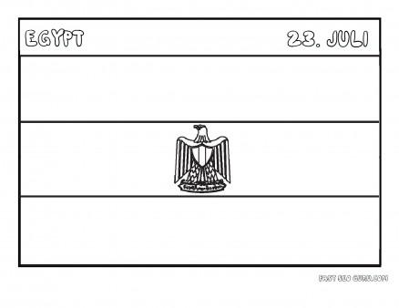 Printable Flag Of Egypt Coloring Pages Printable