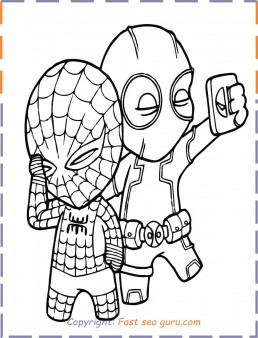 Deadpool Spiderman Coloring Pages To Print Out Free Printable Coloring Pages For Kids