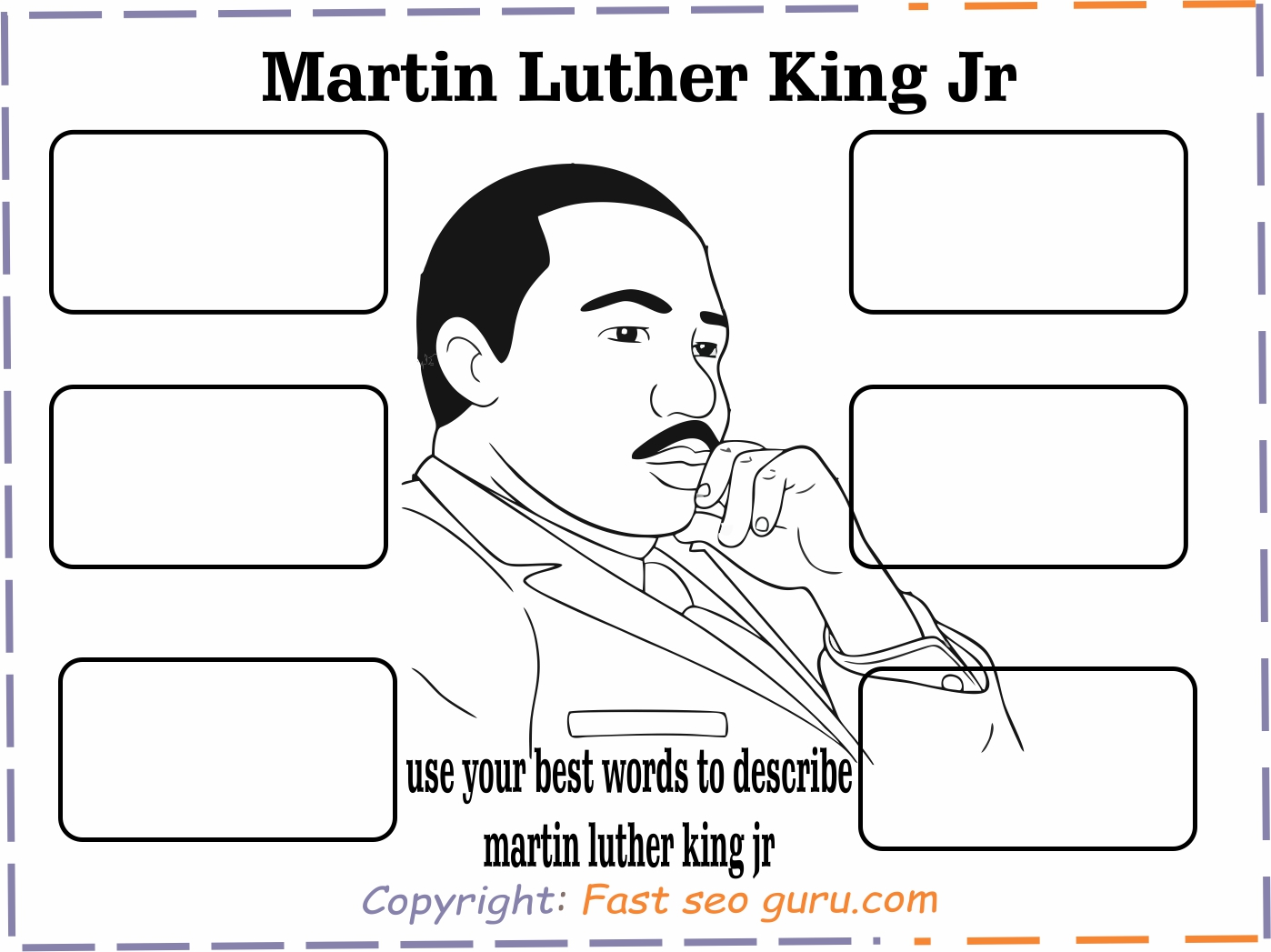 Printable Martin Luther King Jr Activity Sheets