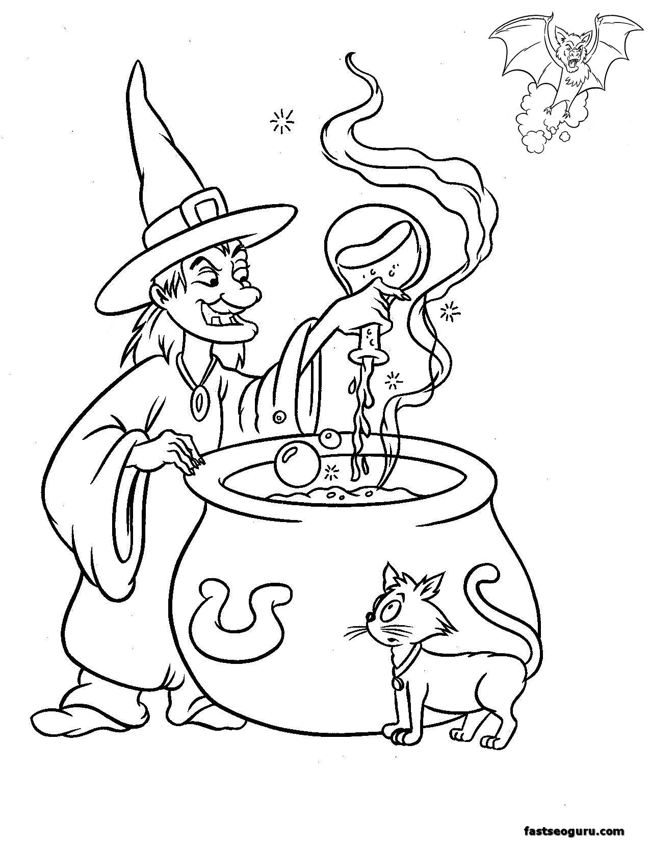 Halloween Witches Make Magic Drink
