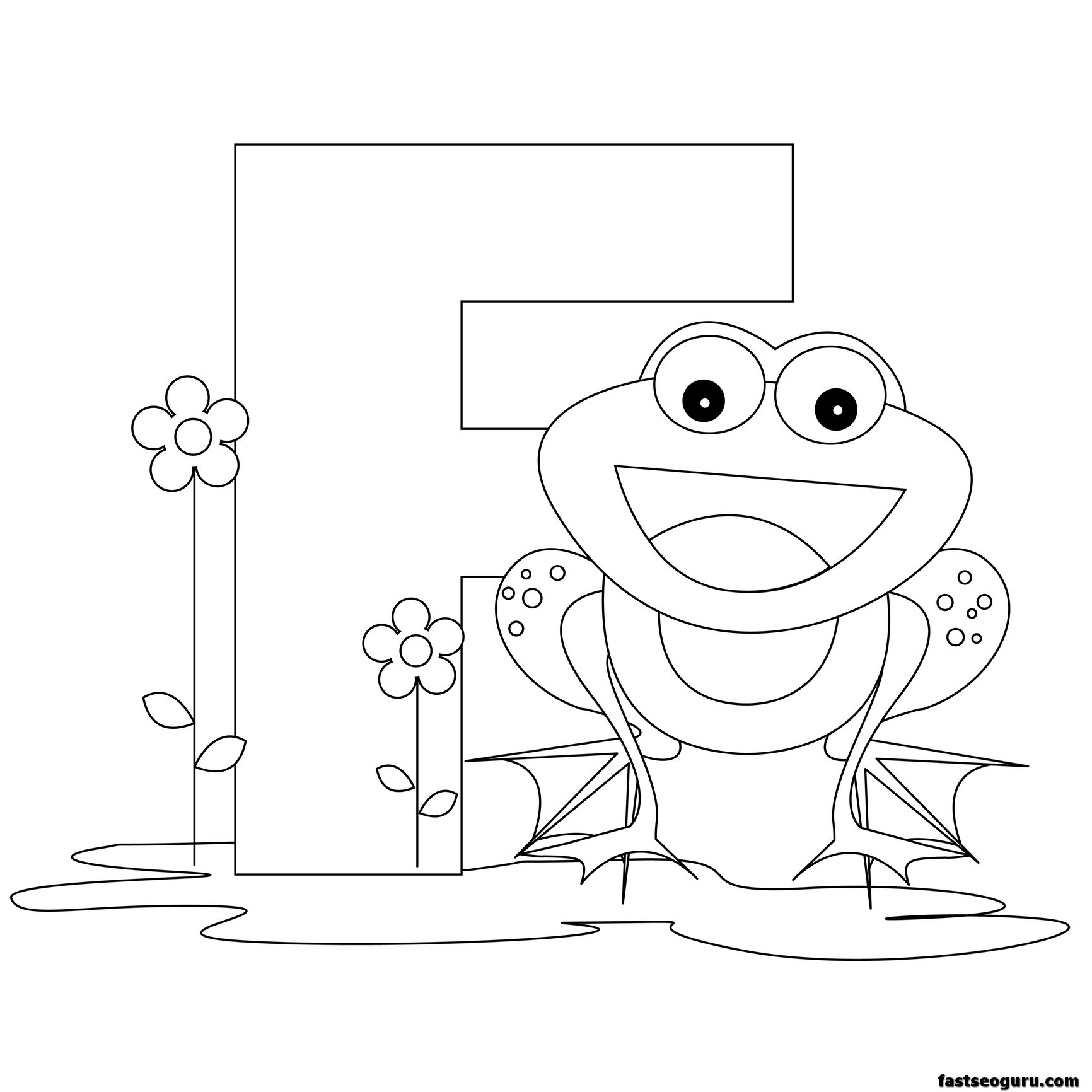 Printable Animal Alphabet Worksheets Letter F For Frog