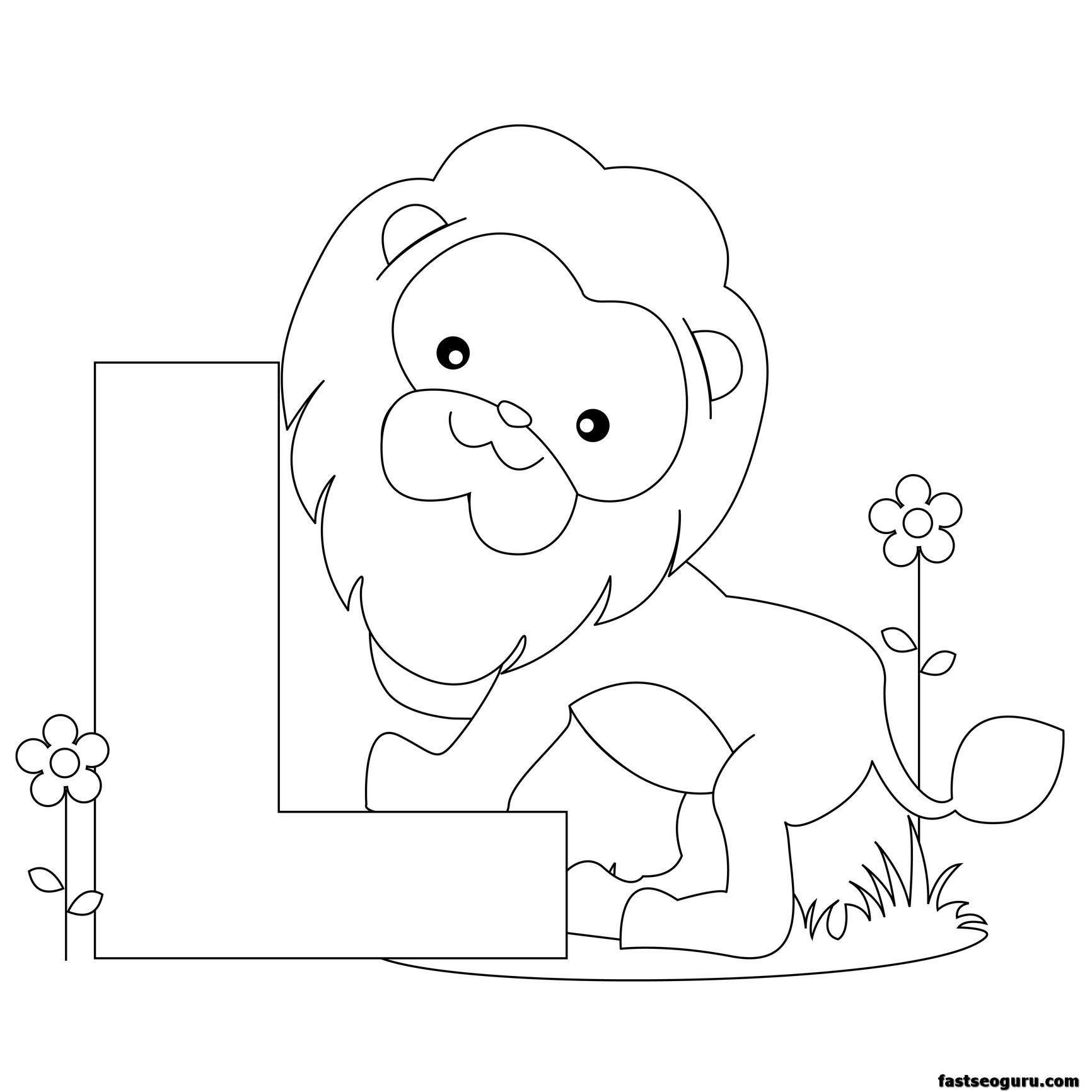 Printable Animal Alphabet Worksheets Letter L Is For Lion
