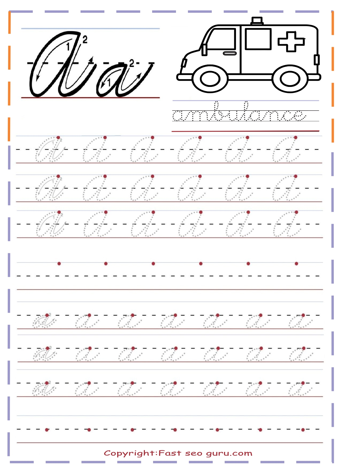 Ideas About Cursive Handwriting Practice On