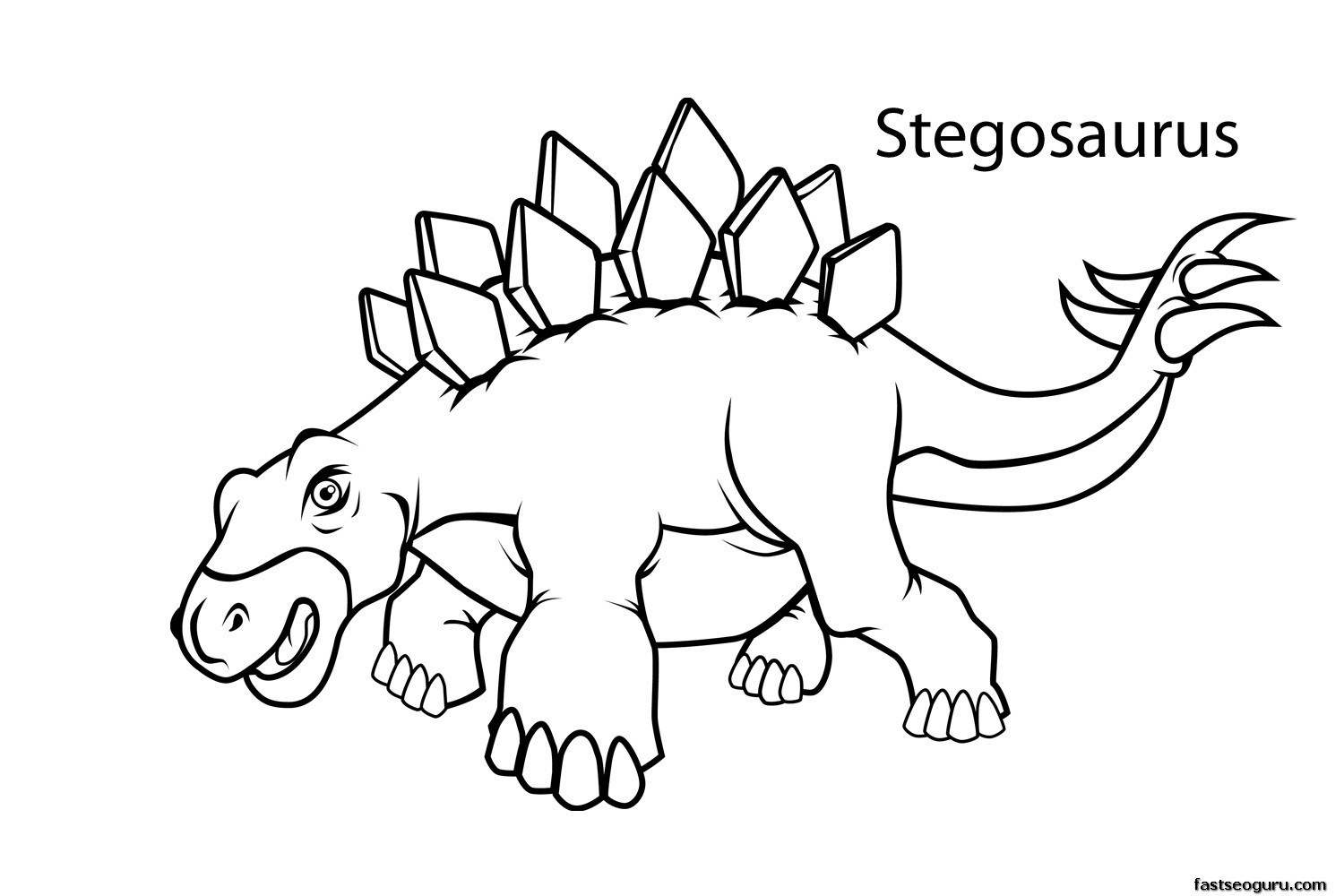 Dinosaur Color Pages For Preschool Coloring Page