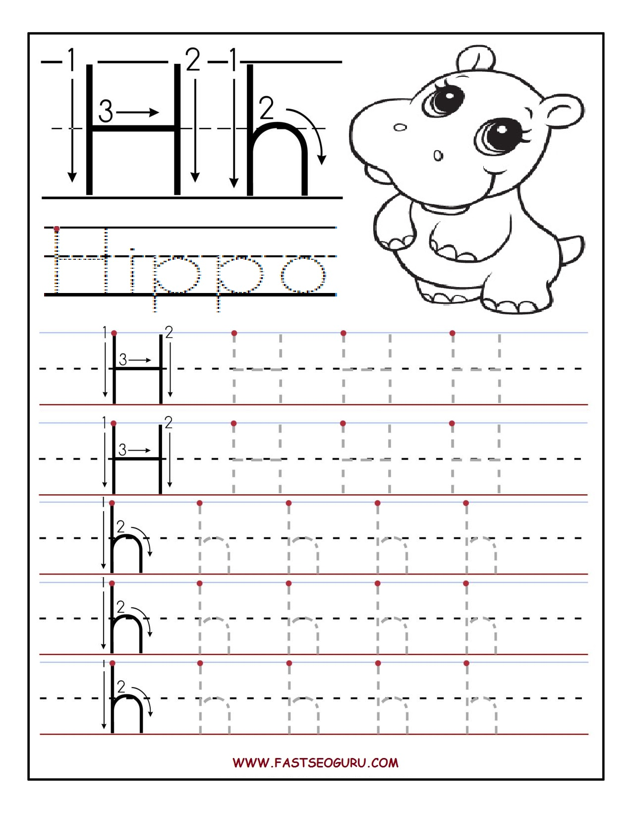 Printable Alphabet Tracing Worksheets Preschool Car Tuning