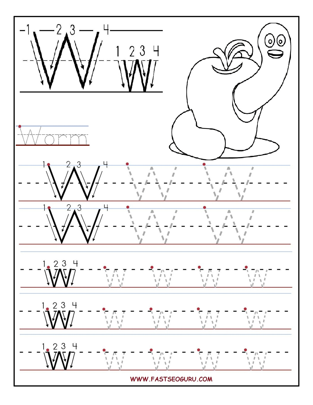 Tracing Worksheets Letter J And Printable Letters On