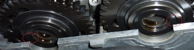 VTR SP2 Camshaft index marks