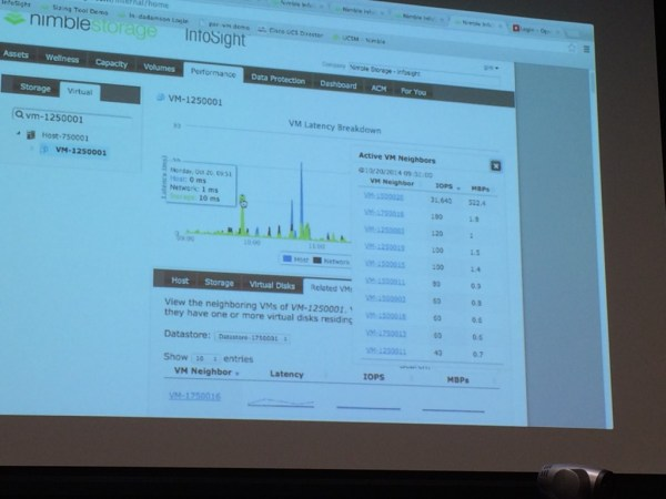 Finding competing workloads on a Nimble Storage using InfoSight at Storage Field day 6.