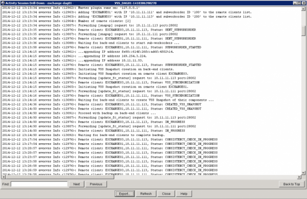 Avamar Exchange 2013 DAG error fixed