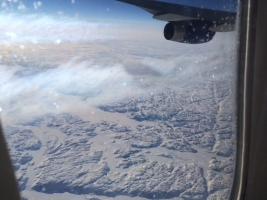 Views over Canada on our way to SFD7